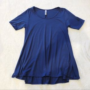 LuLaRoe | Solid Blue Perfect T Sz S
